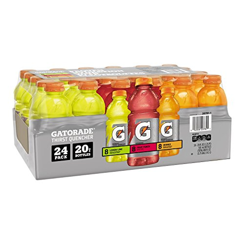Gatorade Sports Drinks Variety Pack (20 oz. bottles, 24 ct.) (pack of 6) by Gatorade