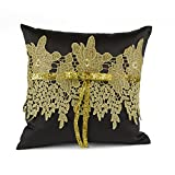Hortense B. Hewitt Golden Vintage Ring Pillow