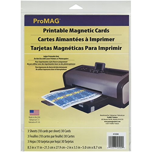 ProMag Printable Magnetic Cards/Sheet, 11 by 8-1/2-Inch, 3-Pack