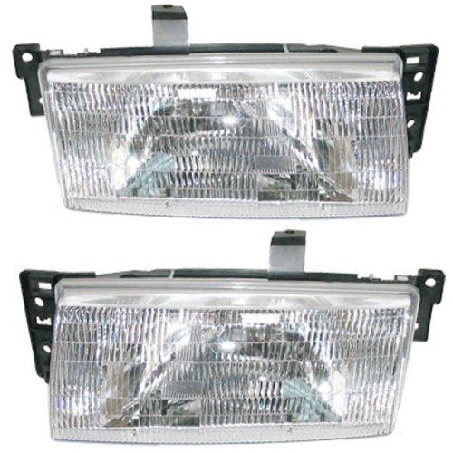 91-96 Mercury Tracer Headlights Headlamps Head Lights Lamps Pair Set