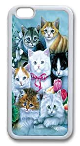 iPhone 6 Case, iPhone 6 Cases -Kittens Custom TPU Soft Case Cover Protector for iPhone 6 White