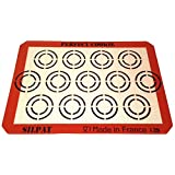 Silpat AE420295-12 Perfect Cookie Baking Sheet, Orange