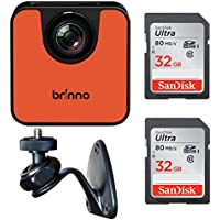 Brinno TLC120 Wi-Fi HDR Time Lapse Camera + Brinno AWM100 Wall Mount and Two 32GB SD Cards