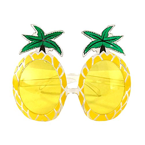Crazy Night Fiesta Tropical Pineapple Sunglasses, Tropical Hawaiian Novelty Sunglasses - Crazy Sunglasses