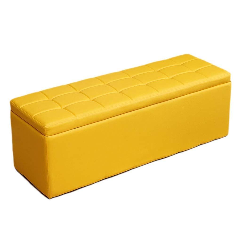 Footstoolsオスマン収納チェストファッションパフソファベンチシートスペース節約最大負荷300キログラムスツール、複数サイズ/カラーオプション (色 : 白, サイズ さいず : 90*30*35cm) B07QFWWZ58 黄 40*40*40cm 40*40*40cm|黄