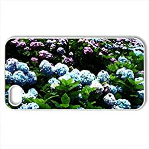 Beautiful flowers - Case Cover for iPhone 4 and 4s (Flowers Series, Watercolor style, White)