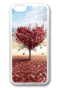 iPhone 6 Cases, Personalized Protective Soft PC Clear Case Cover for New iPhone 6 4.7 inch Red Leaves