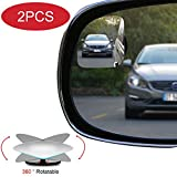 POMFW Blind Spot Mirror, Rearview Convex Adjustable Side Mirrors, Frameless Sway Rotate Wide