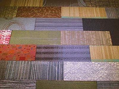 "4urFloor - Assorted 8""x24"" Carpet Tile 36sqft- 27 Tiles Per Box"