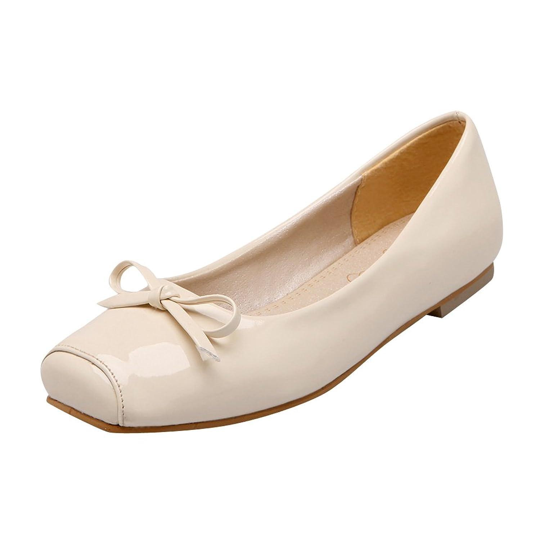 Latasa Womens Fashion Square-toe Comfort Slip on Flats Shoes