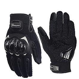 Pitzo MCS17 Riding Tribe Nylon-mesh Men's Protective Screen Touch Racing Biker Gloves (Black) – XXL