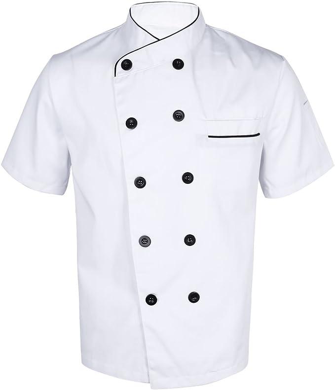 Freebily Unisexe Uniforme Veste De Cuisine Chef Pour Homme Et