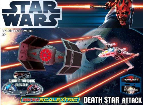 Scalextric 1:64 Micro Death Attack Star Wars Set - G1084T