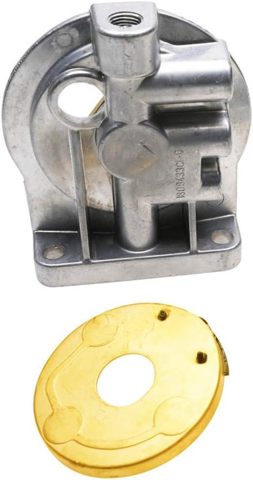 DEF F2tz9b249a 6.9L 7.3L Diesel Fuel Filter Housing Header,Heater Element 9J294,Bottom Lower Cap for F150 F250 F350 F Super Duty E150 E250 E350 1983-1994