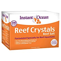 Instant ocean reef crystals are easy-to-use and provide all of the necessary elements required for a healthy coral environment. extra calcium, trace elements and vitamins promote growth and support the health of a variety of corals; including...