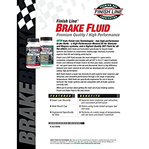 Finish Line High Performance Mineral Oil Brake Fluid, 4-Ounce