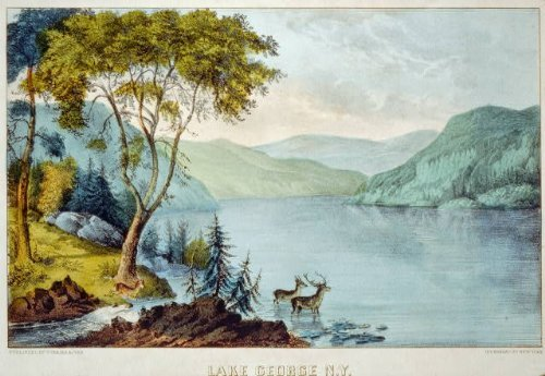 Photo: Lake George N.Y.,New York,1856-1907,Adirondack - George Ny In Lake Shopping