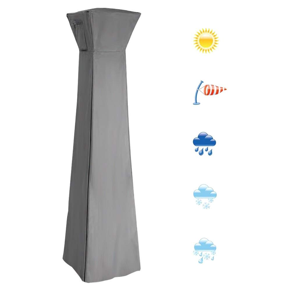 VQP Patio Heater Cover Waterproof Outdoor Garden Protective Case Oxford Cloth for Pyramid Torch Cover Furniture (Grey 84x221cm) by VQP