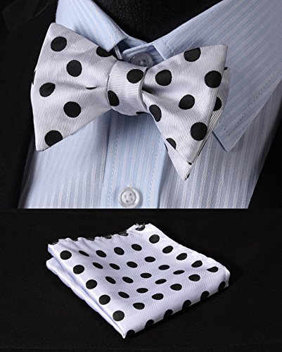 Enmain Suspender /& Self-tie Bow Tie and Pocket Square Set Various Classic 6 Clips Adjustable Braces SC703NS3-EN