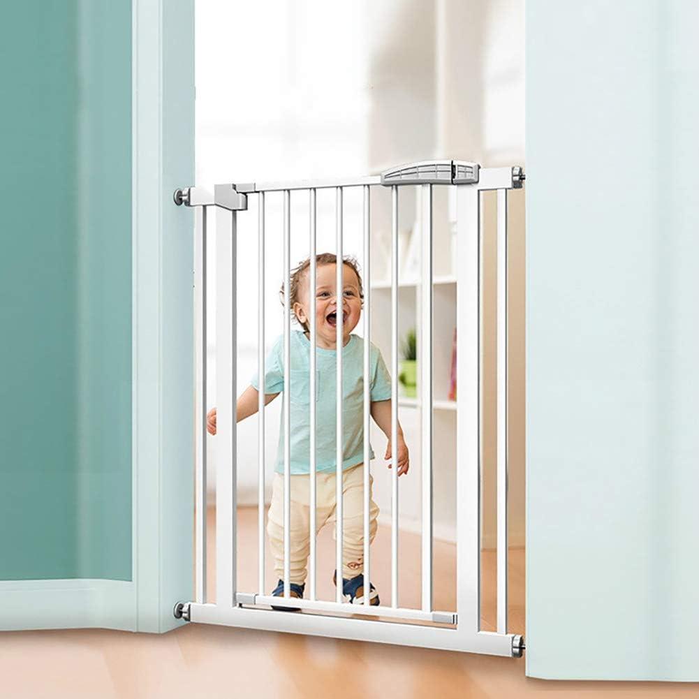 Blanco del bebé Extra Ancho o Estrecho de presión montado en la Puerta de bebé for Mascotas Puerta Walk Thru Puerta de Seguridad for niños con Extensiones (Size : Width 131-138cm)