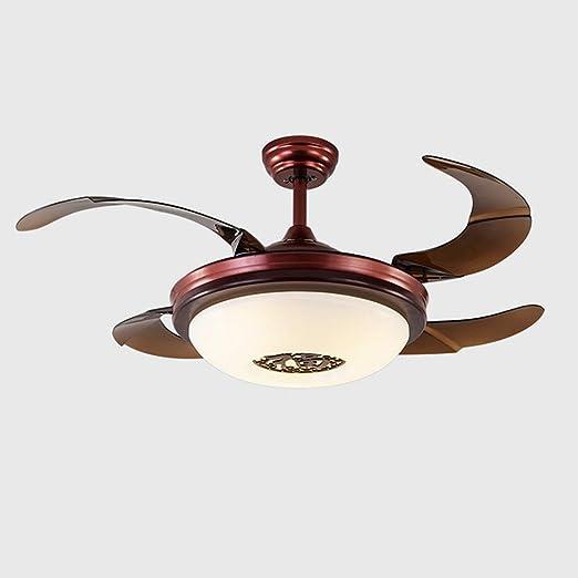 Luz moderna para ventilador de techo, cromo pulido y hoja ...