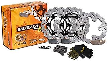 GALFER - Kit Completo de Discos Sobre dimensionados y Pastillas Delantero y Trasero Yamaha T-MAX 530 2015 ->