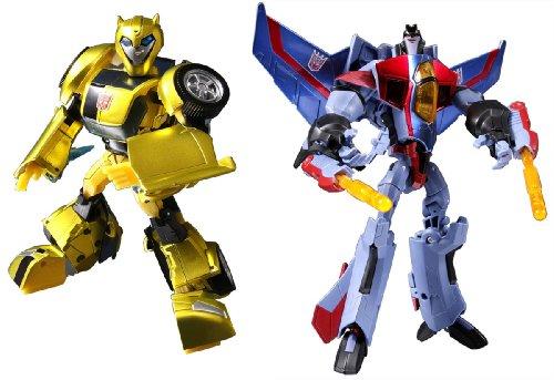 Japanese Transformers Animated - Bumblebee Vs. Starscream
