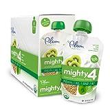 Plum Organics Mighty 4 Essential Nutrition Blend Pouch, Spinach, Kiwi, Barley and Greek Yogurt, 4 Ounce (Pack of 12)