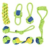 Banfeng Dog Rope Toys Set for Small Medium Dog, Premium Dog Chew Toys Interactive Dog Teething Toys Cotton Rope Knot Toys for Puppy Pet,Pack of 7
