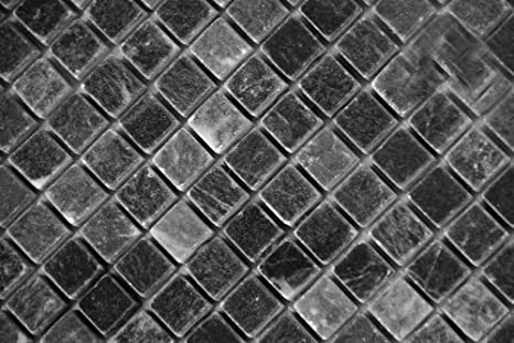 Amazon.com: Negro 5/8 X 5/8 Tumbled mosaico de mármol: Home ...