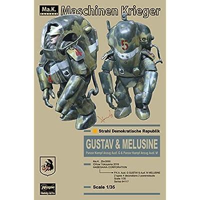 Hasegawa 64117 1:35 Ma.K. P.K.A G Gustav & Ausf M Melusine Plastic Model kit: Toys & Games