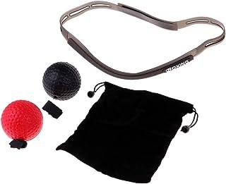 B Baosity 2PCS Balle de Combat en PU Exercice de Boxe avec Serre-tête Silicone pour Hommes Femmes Entraînement de Vitesse Réflexe