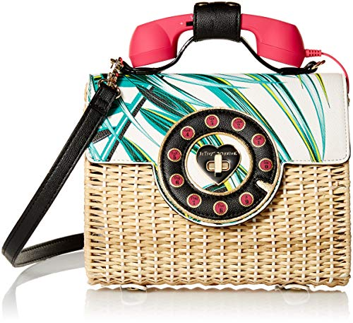 Palm Multi Wicker Betsey Johnson Phone Print womens Bag 0xU4aqB4tn
