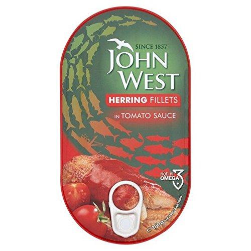 Filet John Hareng De L'Ouest En Sauce Tomate 160G (Paquet de 2)