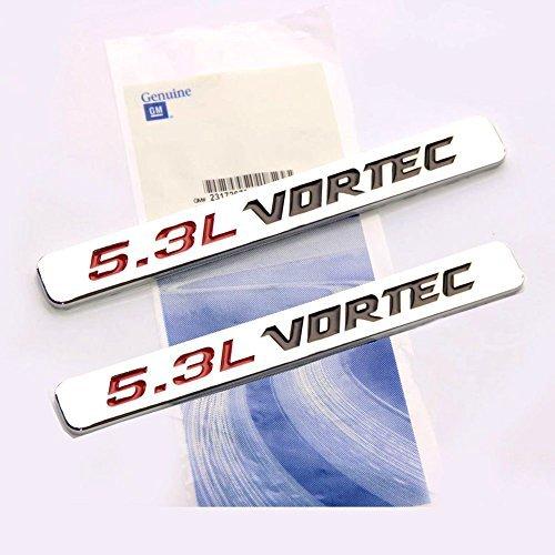 Yoaoo 2x OEM 5.3l Vortec Hood Emblems Engine Badge Silverado Z71 GMC Sierra 2 Chrome by Yoaoo-GM (Engine Vortec compare prices)
