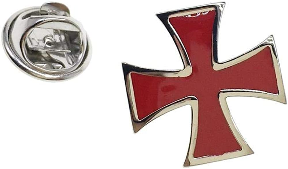 CASCUFF Lapel Pin Badges Red Cross Fashion Brooch Pin Badges Jewelry with a Gift Box
