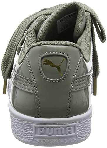 Basket Puma Heart Basse Scarpe Rock Donna da Ginnastica Patent Ridge Grigio Wn's ZRw7AqR