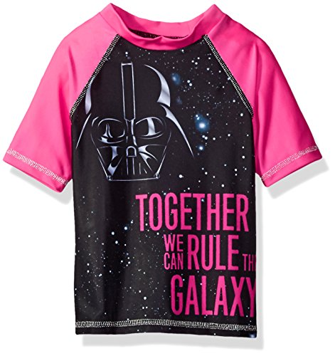 Star Wars Big Girls Rashguard, Pink, 5/6