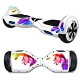 MightySkins Protective Vinyl Skin Decal for Hover Board Self Balancing Scooter mini 2 wheel x1 razor wrap cover sticker Rainbow Smoke