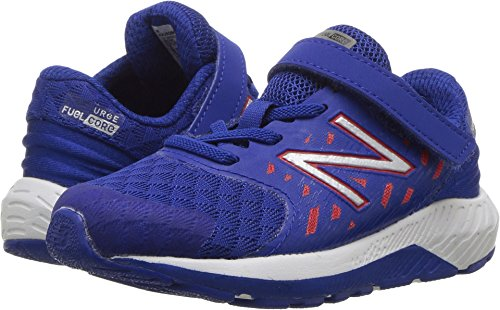 New Balance Boys' Urge V2 Hook and Loop Road Running Shoe, Blue/RED, 6 Wide US - Balance Wide Boys Shoes New