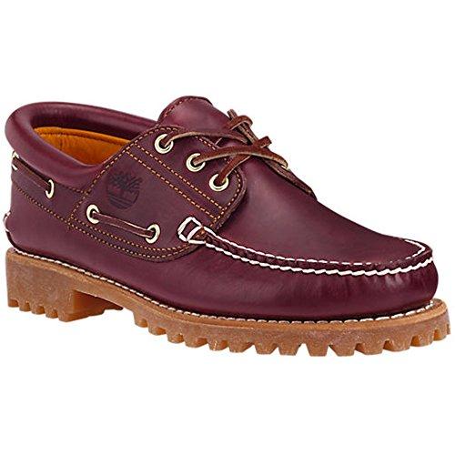 Timberland Men's 50009 Authentics 3-Eye Classic Lug Boat Shoe, Burgundy/Brown,11 M