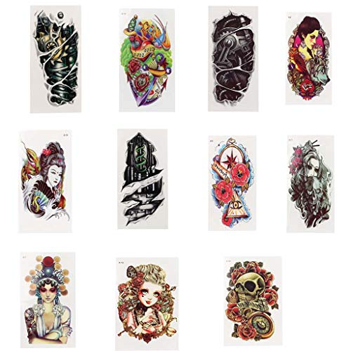 Exteren Happy Halloween Sexy Body Tattoo Stickers Temporary Body Arm Stickers Removable Waterproof (multicolor)