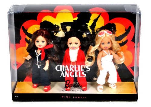 Mattel Year 2009 Barbie Pink Label Collector Series 3 Pack 4-1/2 Inch Doll Gift Set - Sabrina, Jill and Kelly as CHARLIE's ANGELS (N6583) - Farrah Fawcett Doll