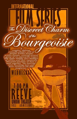 The Discreet Charm of the Bourgeoisie Movie Poster (27 x 40 Inches - 69cm x 102cm) (1972) French -(Milena Vukotic)(Fernando Rey)(Delphine Seyrig)(Jean-Pierre Cassel)(Bulle Ogier)(Michel Piccoli)