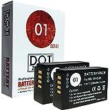 2x DOT-01 Brand 1200 mAh Replacement Nikon EN-EL20 Batteries for Nikon DL 24-500 Compact Camera and Nikon ENEL20