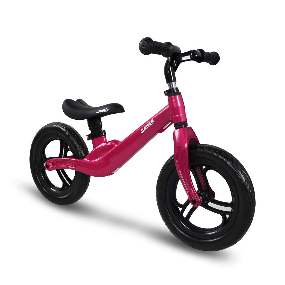 COEWSKE 12in Kid Balance Bike Children Running Bicycle Magnesium Alloy No Pedal Walking Bicycle for Ages 18 Months to 5 Years Old (Red)
