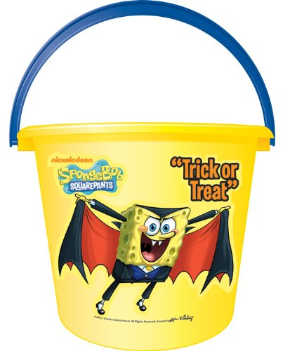 Spongebob Halloween Costume (Spongebob Squarepants Sand or Trick-or-Treat Pail)