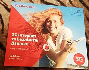 Vodafone Ukraine Tarjeta SIM prepago Starter Pack: Amazon.es ...