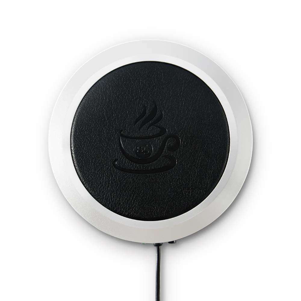 PU Aislamiento El/éctrico Resistente al Calor USB Alfombrilla Caliente para Oficina Calentador de Bebidas para Escritorio Apagado Autom/ático SUNJULY Calentador de Tazas de Caf/é