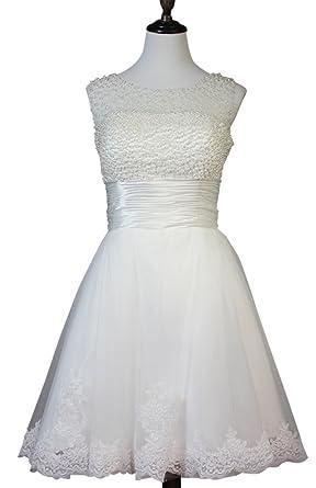 Drasawee Pearl Beaded Ball Gown Short Junior Prom Homecoming Dress UK14